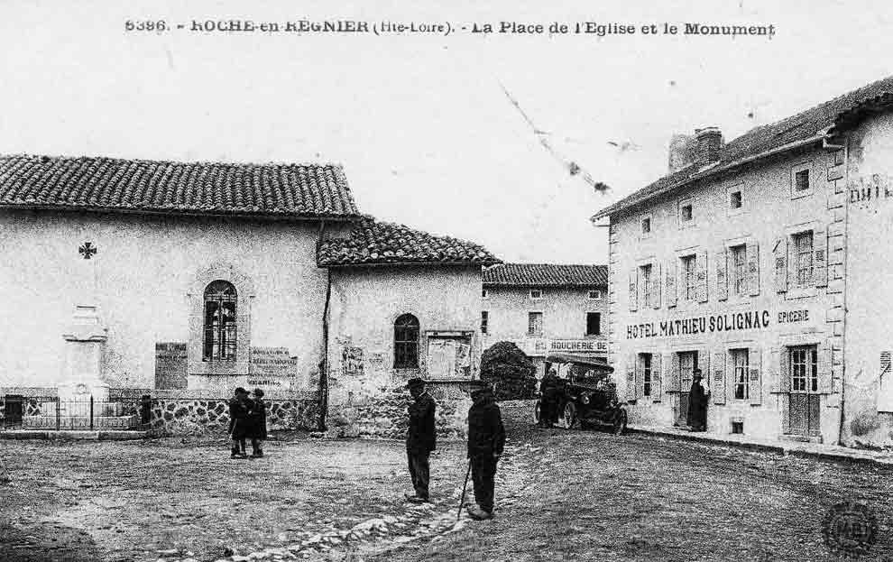 Le centre du bourg au début du XXème siècle
